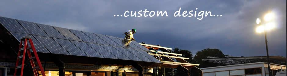 custom pv panel install